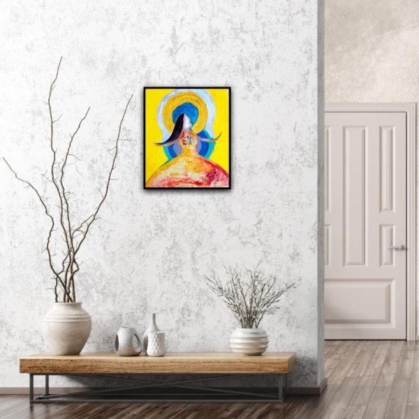 dancer, color, home, art, small